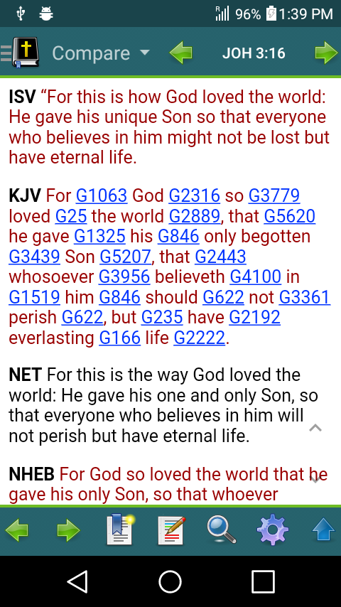MySword - Free Android Bible