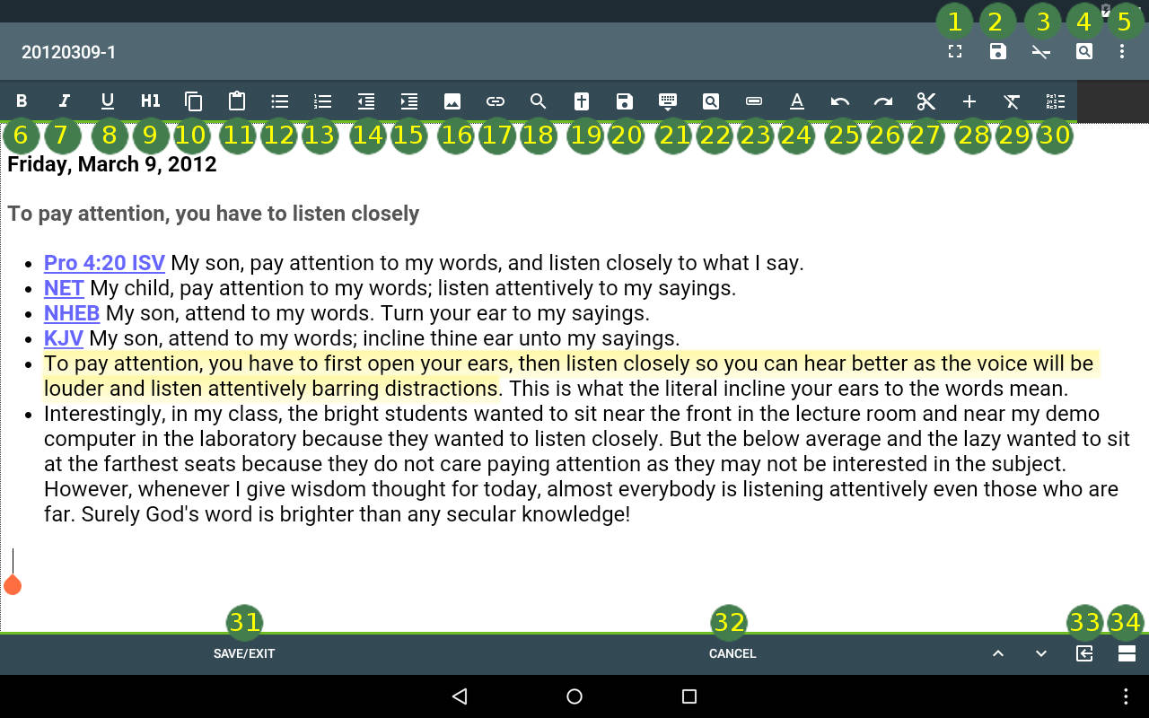 MySword - Free Android Bible - Mini User's Guide