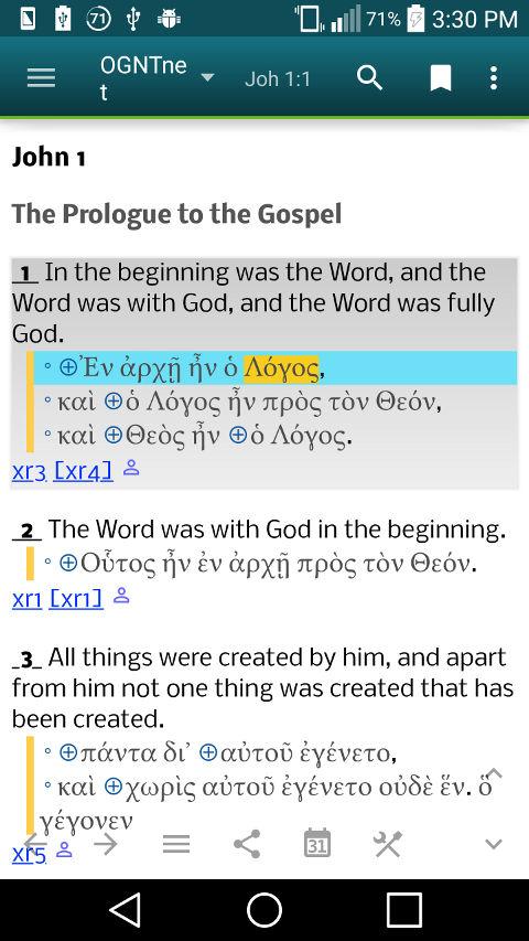 Open Greek New Testament Bible (OGNT) version 3